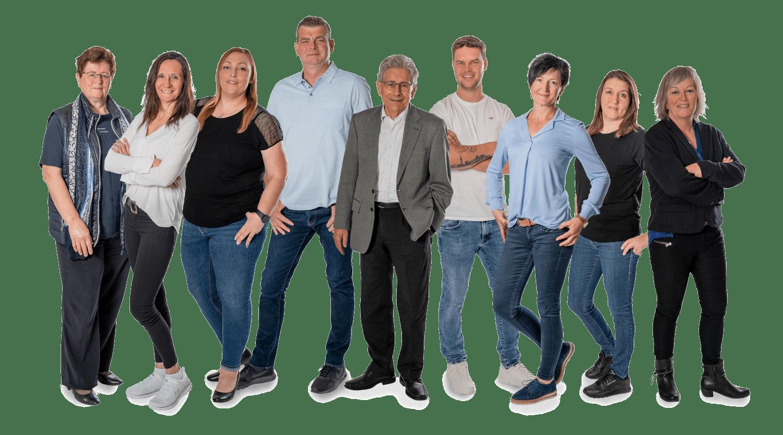 Gruppenfoto Mitarbeiter FTK-Immobilien